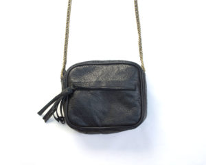 SAC noir Julie Meuriss, Cuir de vachette, doublure 100% CO Designed in France, Made in Europe