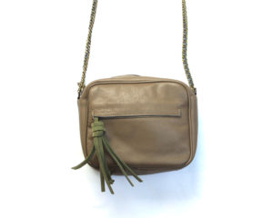 SAC taupe Julie Meuriss, Cuir de vachette, doublure 100% CO Designed in France, Made in Europe