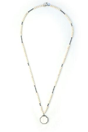 sautoir collier wichita howlite bjoux croix