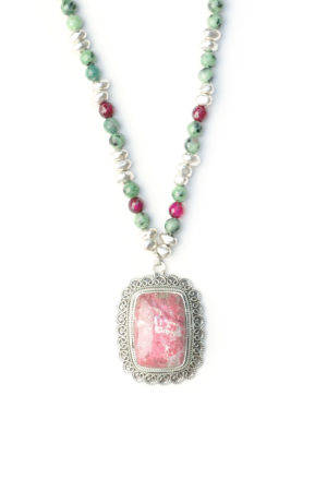 Wichita sautoir collier bijoux boutique rhodonite